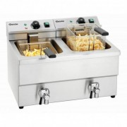BARTSCHER Friteuse professionnelle à poser double imbiss II - 2 x 8 Litres - Bartscher