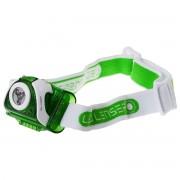 Lanterna de cap LED LENSER SEO 3 Verde 90lm raza luminoasa 100m