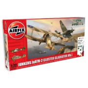 Airfix kit constructie set junkers ju87r-2 si gloster gladiator