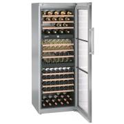Vitrina pentru vinuri Liebherr WTes 5872, 496 L, 178 sticle, Rafturi lemn, Control electronic, Display, H 192 cm, Inox