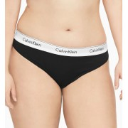 Calvin Klein black thong Thong Modern Cotton Plus with a wide rubber