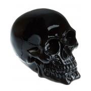 Svart Blank Dödskalle 14 cm Figur