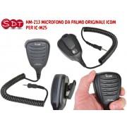 HM-213 MICROFONO DA PALMO ORIGINALE ICOM PER IC-M25 EURO