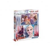 Puzzle Clementoni, Disney Frozen II, 2 in 1, 2x60 piese