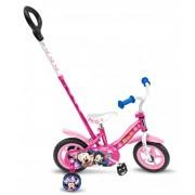 Bicicleta Stamp Minnie 10 inch cu bara de impins