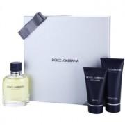 Dolce & Gabbana Pour Homme coffret IV. Eau de Toilette 125 ml + bálsamo after shave 100 ml + gel de duche 50 ml