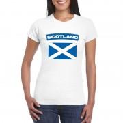 Bellatio Decorations Schotse vlag shirt wit dames