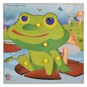 Skillofun Wooden Theme Puzzle Standard Frog Knobs, Multi Color