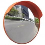 vidaXL Oglindă de trafic convexă, portocaliu, 45 cm, plastic PC, de exterior