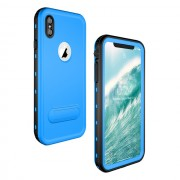 REDPEPPER Dot+ Series Dustproof Snowproof IP68 Waterproof Mobile Phone Shell with Kickstand for iPhone XS Max 6.5 inch - Blue