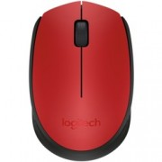 Мишка Logitech M171, оптична(1000 dpi), безжична, USB, червена