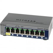 NETGEAR 8xGigabit Switch, E QoS, GS108T-200GES
