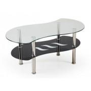 Halmar Konferenční stolek - skleněný konferenční stolek catania (sklo/ černá police)