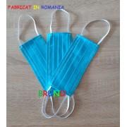 Set 3 masti de protectie reutilizabile bleu turquoise