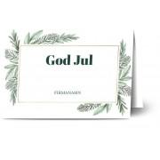 Optimalprint Julkort företag, glansigt papper, standard-kuvert, 1 st, fotokort (1 foto), juldekoration, julgran, foliage, tall, vit, A6, vikt, Optimalprint