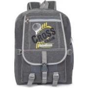 Classic Cross Canvas School Bag |Shoulder Backpacks | Casual Bag for Girls & Boys 24 L Backpack(Black)