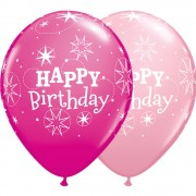 "Baloane latex 11"" inscriptionate Birthday Sparkle Asortate, Qualatex 38856"
