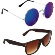Zyaden Round, Wayfarer Sunglasses(Blue)