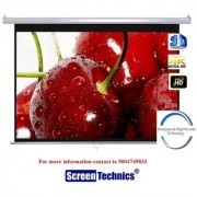 Screen Technics 133 Inch Diagonal Instalock Projector Screen Deluxe fabric Supports HD 3D 4k Technology