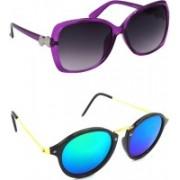 Hrinkar Over-sized Sunglasses(Grey, Blue, Green)