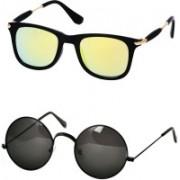 Stysol Wayfarer Sunglasses(Yellow, Black)