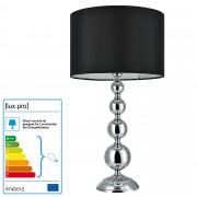[lux.pro]® Lámpara de mesa moderna - negro - (E14) - Modelo: San Francisco