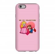 Nintendo Funda móvil Super Mario Bros Be My Valentine para iPhone y Android - iPhone 6S - Carcasa doble capa - Brillante