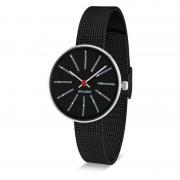 Arne Jacobsen Clocks Armbandsur Bankers Svart/matt svart 30 mm Arne Jacobsen Clocks