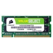 Corsair CM3X2GSD1066 Value Select SO-DIM DDR2 RAM Geheugen - 2GB