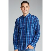 Mens Southcape Casual Shirt - Royal Blue Check