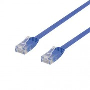 Deltaco nätverkskabel U/UTP Cat6, flat, 3m, 250MHz, blå