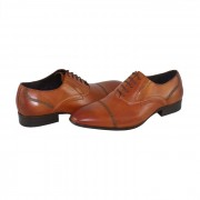 Pantofi eleganti, piele naturala barbati - maro, Saccio - 369-67C-Light-Brown