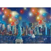 Puzzle Schmidt 1000 Alexander Chen Statue of liberty with fireworks
