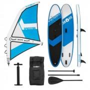 Klarfit Spreestar WS Set tabla hinchable para surf de remo Tabla SUP 300x10x71 Azul/blanco (WTR1-Spreestar WS)