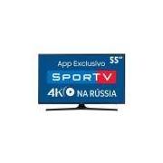 Smart TV LED 55 UHD 4K Samsung 55MU6100 com HDR Premium, Plataforma Smart Tizen, Smart View, Espelhamento de Tela, Steam Link, 3 HDMI e 2 USB