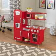 KidKraft Vintage Play Kitchen KidKraft Finish: Red - Size: 38cm -40cm H X 95cm -107cm W X 20cm -27cm D