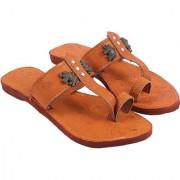 Be You Women Tan Color One-Toe Flats / Jaipuri / Rajasthani Footwear