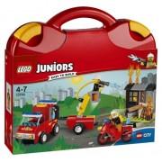 LEGO Juniors - City, Valiza Patrula de pompieri 10740
