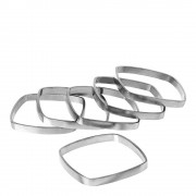 Blomus Fino Servettring 6-pack Nickelpläterad