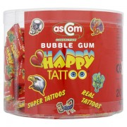 Happy Tattoo Bubble Gum Retro Bubblegums