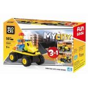 Joc constructie, My City, Vehicul 3:1, 50 piese Blocki