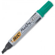 BIC 230002 MARKING 2300 PERMANENT MARKER CHISEL POINT 3.7MM AND 5.5MM GREEN BOX 12