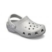 Crocs Classic Glitter Klompen Kinder Silver 24