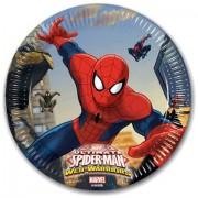 Piatti Grandi Spiderman da 23 cm - Piatti per Festa di Spiderman Marvel Ultimate Web Warriors