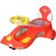 NHR Kids Deluxe Free Wheel Magic swing concept car Ride-on(Red)