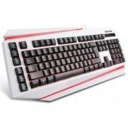 Клавиатура Delux DLK-9500, бяла, подсветка, USB