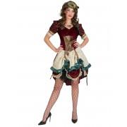 Deguisetoi Déguisement robe steampunk aventurière femme - Taille: S / M