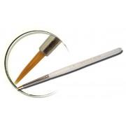 Pensula nail art, maner acrilic, marimea 0, par artificial, art. nr.: 40010