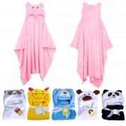 ProductsPro Baby Badjas Leuke Dier Panda Flanel Cartoon Baby Kid's Hooded Badhanddoek Peuter Dekens 6 Dieren met Haak voor optioneel MyXL - 3 badhanddoek voor k