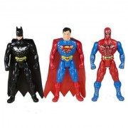 Spiderman Superman Batman Super Hero Figures (Multicolour)- Pack of 3